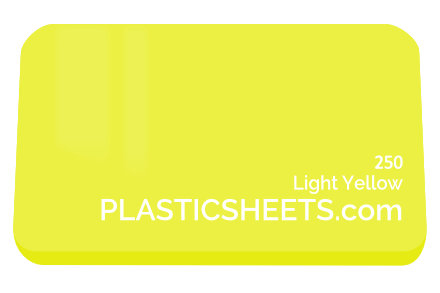 Light Yellow Perspex Sheet