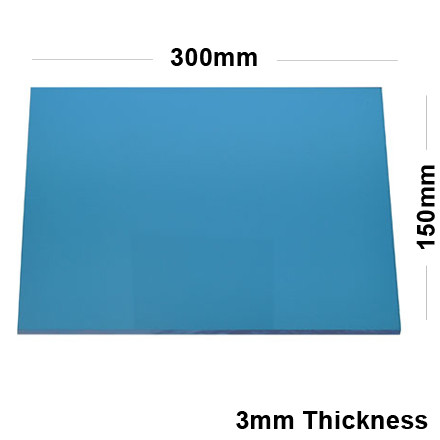 3mm blue acrylic mirror sheet 300 x 150 for Miroir 50 x 150