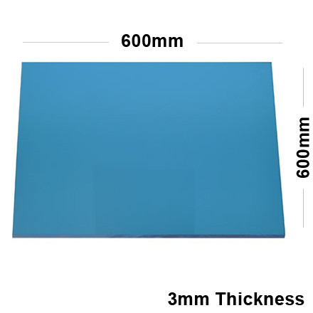 3mm blue acrylic mirror sheet 600 x 600 for Mirror 600 x 600