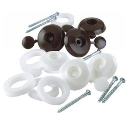10mm Fixing Buttons (Pack of 10) Brown