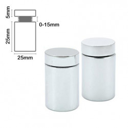 Stand Off Wall Mount 25mm x 25mm-Satin