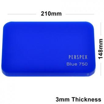 3mm Blue Acrylic Sheet 210 x 148