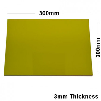 3mm Gold Acrylic Mirror Sheet 300 x 150