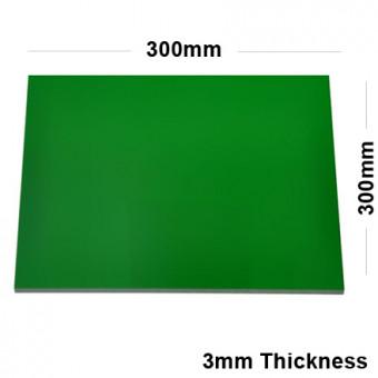 3mm Green Acrylic Mirror Sheet 300 x 300