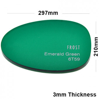 3mm Green Frosted Acrylic Sheet 297 x 210