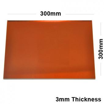 3mm Orange Acrylic Mirror Sheet 300 x 300
