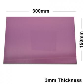 3mm Pink Acrylic Mirror Sheet 300 x 150