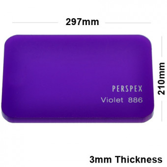 3mm Purple Acrylic Sheet 297 x 210