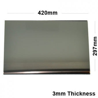 3mm Silver Acrylic Mirror A3 Sized Sheet 420 x 297
