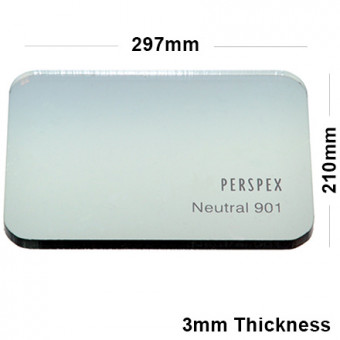 3mm Light Grey Tinted Acrylic Sheet 297 x 210