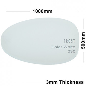 3mm White Frosted Acrylic Sheet 1000 x 500