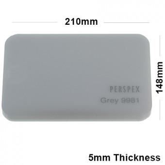5mm Grey Acrylic Sheet 210 x 148