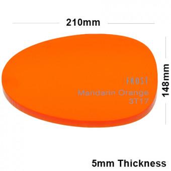5mm Orange Frosted Acrylic Sheet 210 x 148