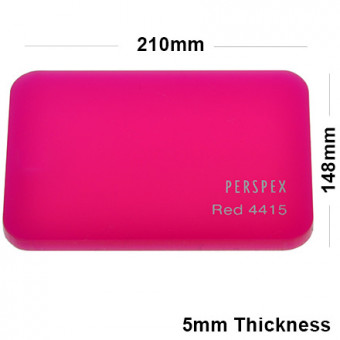 5mm Pink Acrylic Sheet 210 x 148
