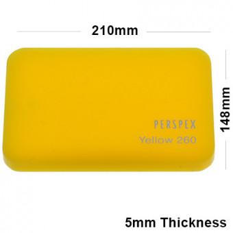 5mm Yellow Acrylic Sheet 210 x 148