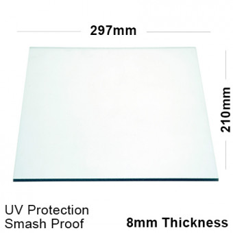 8mm Clear Polycarbonate Sheet 297 x 210