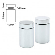 Stand Off Wall Mount 25mm x 19mm-Chrome