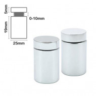 Stand Off Wall Mount 19mm x 25mm-Chrome