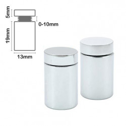 Stand Off Wall Mount 19mm x 13mm Satin