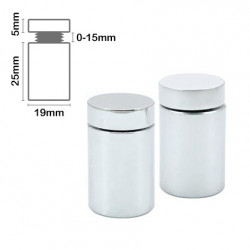 Stand Off Wall Mount 25mm x 19mm-Satin