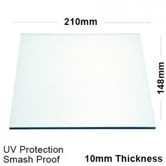10mm Clear Polycarbonate Sheet 210 x 148
