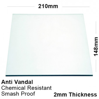 2mm Clear PETG Sheet 210 x 148