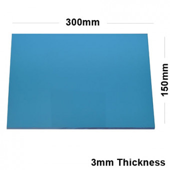 3mm Blue Acrylic Mirror Sheet 300 x 150