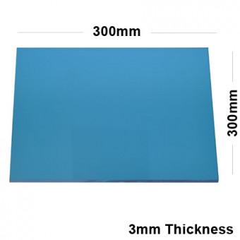 3mm Blue Acrylic Mirror Sheet 300 x 300