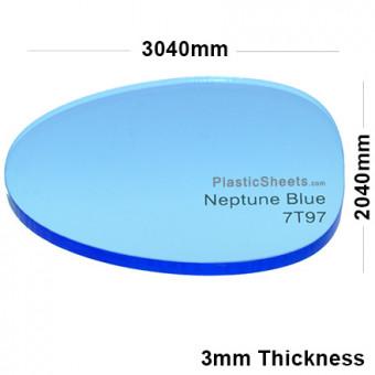 3mm Blue Fluorescent Acrylic Sheet 3040 x 2040