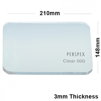 3mm Clear Acrylic Sheet 210 x 148