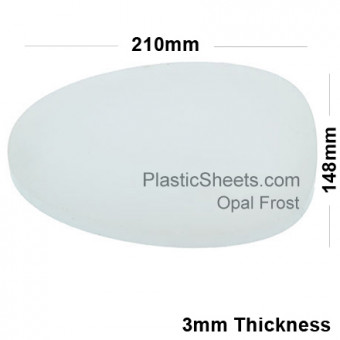 3mm Opal Frosted Acrylic Sheet 210 x 148