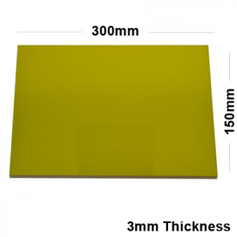 3mm Gold Acrylic Mirror Sheet 300 x 150