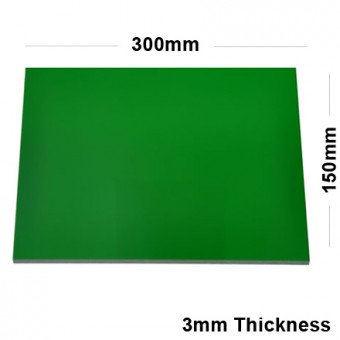 3mm Green Acrylic Mirror Sheet 300 x 150