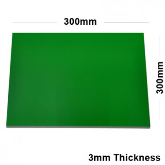 3mm Green Acrylic Mirror Sheet 300 x 300