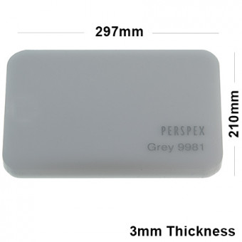 3mm Grey Acrylic Sheet 297 x 210