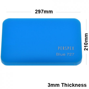 3mm Light Blue Acrylic Sheet 297 x 210