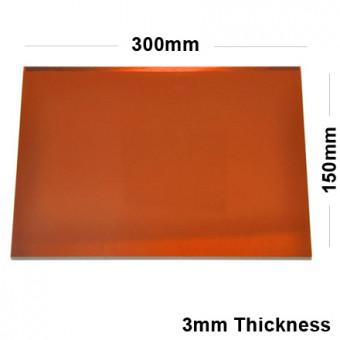 3mm Orange Acrylic Mirror Sheet 300 x 150