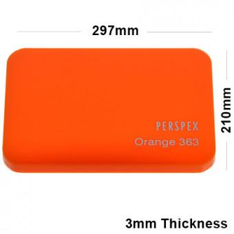 3mm Orange Acrylic Sheet 210 x 148