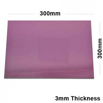 3mm Pink Acrylic Mirror Sheet 300 x 300