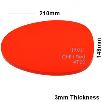 3mm Red Frosted Acrylic Sheet 210 x 148
