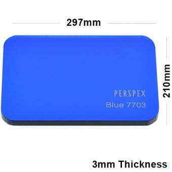 3mm Dark Blue Tinted Acrylic Sheet 297 x 210
