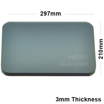 3mm Dark Grey Tinted Acrylic Sheet 297 x 210
