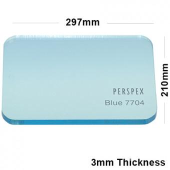 3mm Light Blue Tinted Acrylic Sheet 297 x 210
