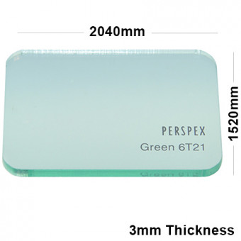 3mm Light Green Tinted Acrylic Sheet 2040 x 1520