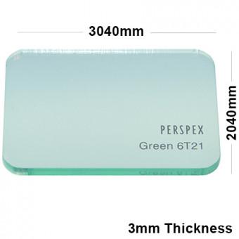 3mm Light Green Tinted Acrylic Sheet 3040 x 2040