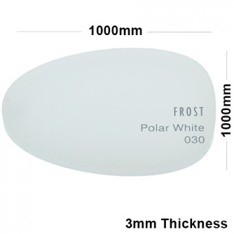 3mm White Frosted Acrylic Sheet 1000 x 1000