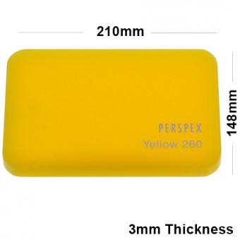 3mm Yellow Acrylic Sheet 210 x 148