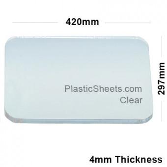 4mm A3 Sized Clear Acrylic Sheet 297 x 420
