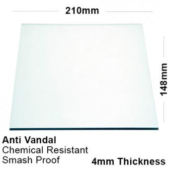 4mm Clear PETG Sheet 210 x 148