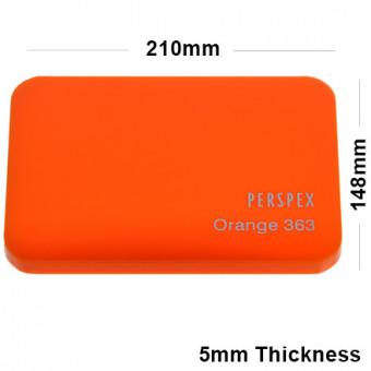 5mm Orange Acrylic Sheet 210 x 148
